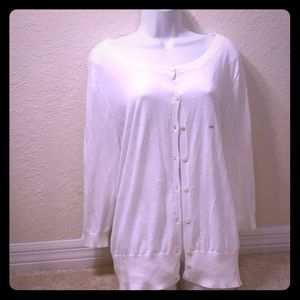 Lane Bryant White Cardigan 18/20 NWT